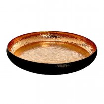 "Copper Tray w/ Hammered Interior - 14"" Round for Rent"