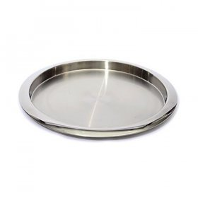 "Mod Stainless Steel Galley Tray - 15"" Round for Rent"