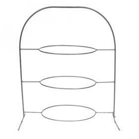 Wrought Iron 3 Tier Oval Stand for Rent