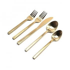 Brushed Gold Flatware for Rent