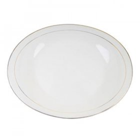 Ivory Oval Platter Gold Rim for Rent