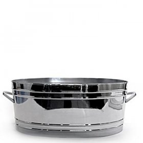 "Silver Mod Oval Tub (22"") for Rent"
