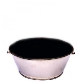 "Silver Oval Tub (18"") for Rent"
