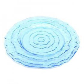 Azure Swirl Glass Charger for Rent