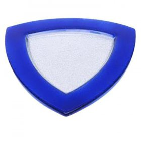 Blue Triangle Glass Charger for Rent