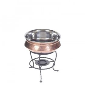 Round Copper Chafer for Rent