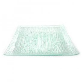Crackle Square Sea Glass Charger for Rent
