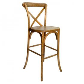 Cross Back Bar Stool for Rent