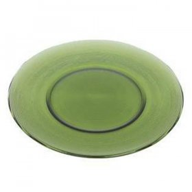 Dark Green Ribbed Glass Charger for Rent