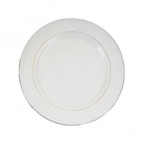Gold Rim Ivory China for Rent