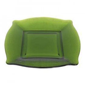 Green Square Glass Charger for Rent