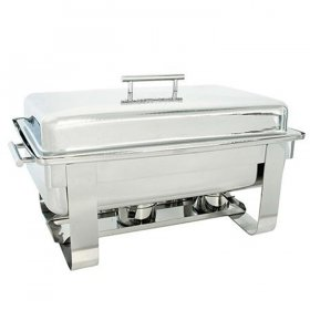 8 qt Rectangle Hammered Chafer for Rent