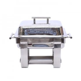 Hammered Chafer Square (4 qt) for Rent