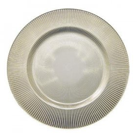 Luce Pewter Glass Charger for Rent