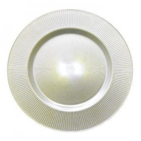 Luce White Glass Charger for Rent