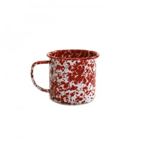 Red Speckled Tin Mug for Rent