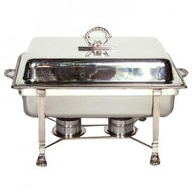 Silver Chafer Rectangle (8 qt) Rectangle (8 qt) for Rent