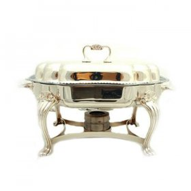 Silver Chafer Scalloped (6 qt) for Rent