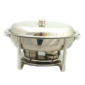 Stainless Chafer Oval (6 qt) for Rent