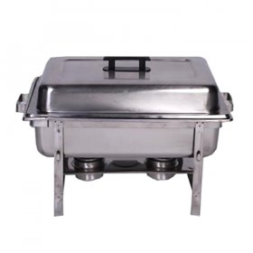 Stainless Chafer Rectangle (8 qt) for Rent