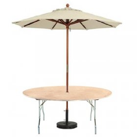 Umbrella Round Table for Rent