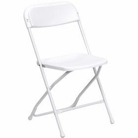 White Plastic Folding Chair for Rent