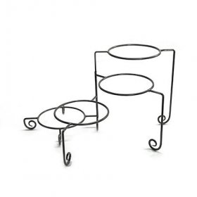 Wrought Iron Plate Stand 4 Tier for Rent