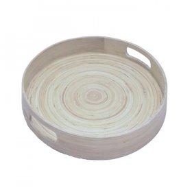 "Bamboo Galley Tray 15.5"" Round for Rent"