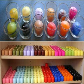 Colored Votive Candle for Rent