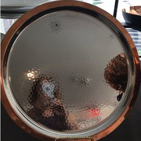 "Copper Tray 14"" Round for Rent"