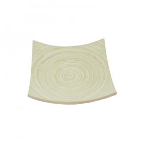 "Curved Bamboo Tray 12"" Square for Rent"
