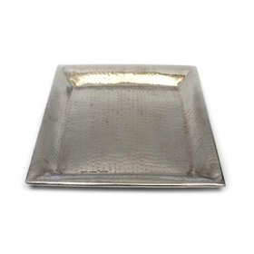 "Hammered Tray - 16"" Square for Rent"