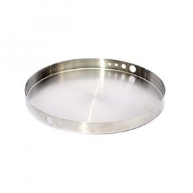 "Mod Stainless Steel Hole Tray - 14"" Round for Rent"