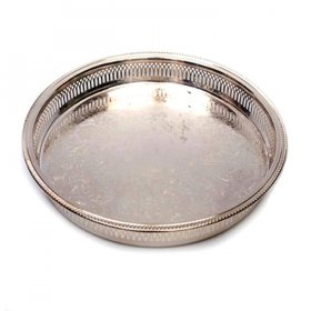 Silver Galley Tray Round for Rent