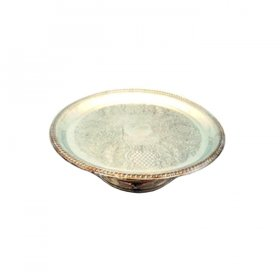 Silver Round Cake Stand for Rent