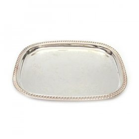 "Silver Tray - 18"" x 14"" for Rent"