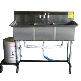 Triple Stainless Steel Sink w/ Hot Water Heater for Rent