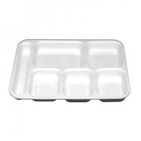 White Cafeteria Tray with Compartments for Rent