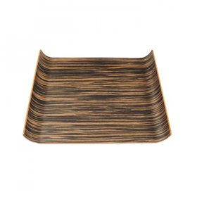 "Wood Curved Tray 17"" x 12"" for Rent"