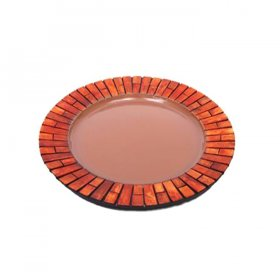 Wood Edge Tray - Round for Rent