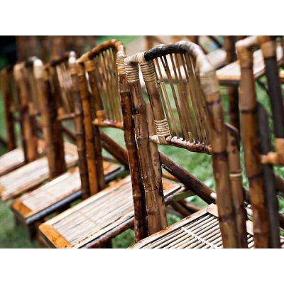 Bamboo folding chairs wedding idea