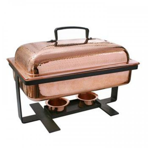 8 qt Rectangle Copper Chafer for Rent