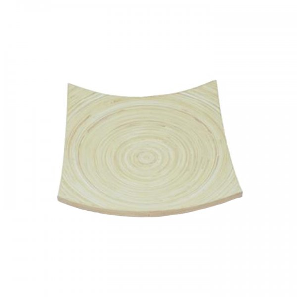 """Curved Bamboo Tray 12"""" Square for Rent"""
