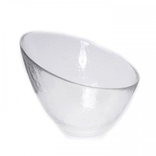 Angled Hammered Glass Bowl for Rent