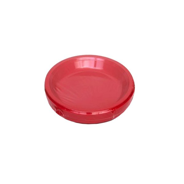 Red Plastic Plates for Rent