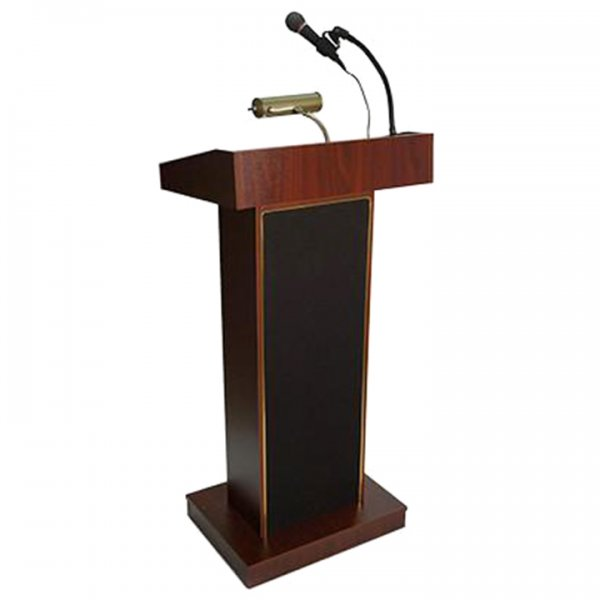 Wood Podium with Microphone for Rent