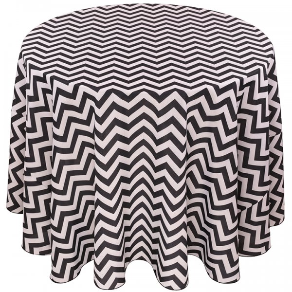 Colored Prints Chevron Tablecloth for Rent