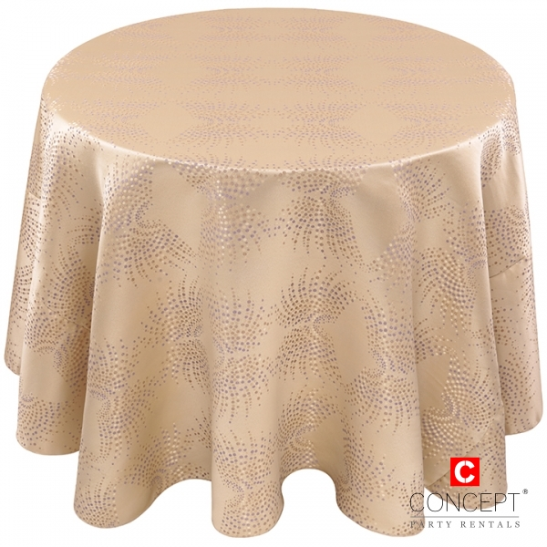 Art Deco Dot Art Tablecloth for Rent