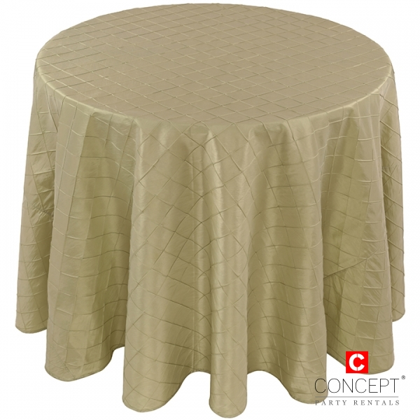 Taffeta Pintuck Tablecloth for Rent